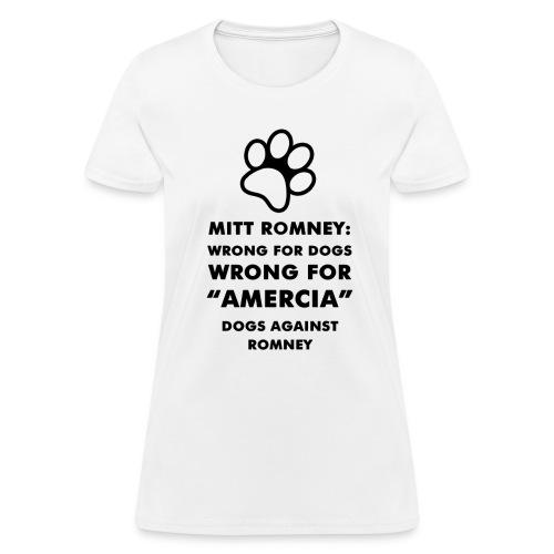 Official Dogs Against Romney Amercia Women's Tee (black) - Women's T-Shirt