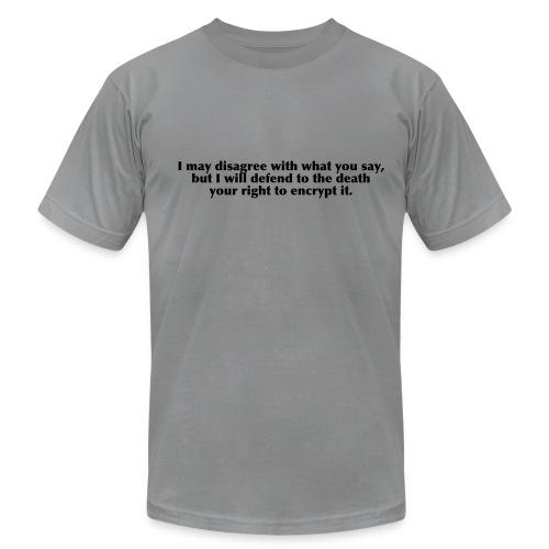 Right to encrypt Slate/Black - Men's Fine Jersey T-Shirt