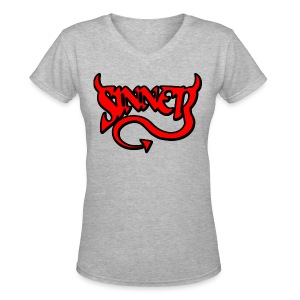 Sinner V-neck - Women's V-Neck T-Shirt
