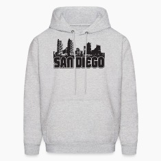 San Diego Skyline Hooded Sweatshirt