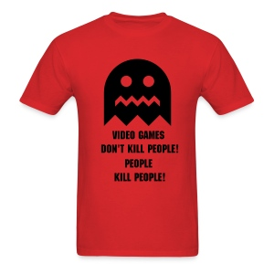 Video games don't kill people, people kill people. - Men's T-Shirt