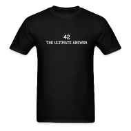 T-Shirts ~ Men's T-Shirt ~ HITCHHIKER'S GUIDE 42 T-SHIRT
