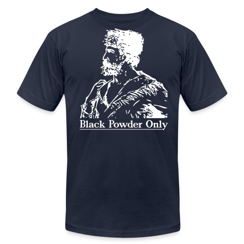 Black Powder Only & Boone Portrait - Men's Fine Jersey T-Shirt