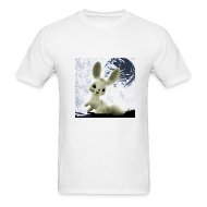T-Shirts ~ Men's T-Shirt ~ Space Bunny White