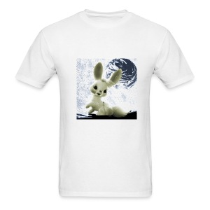 Space Bunny White - Men's T-Shirt