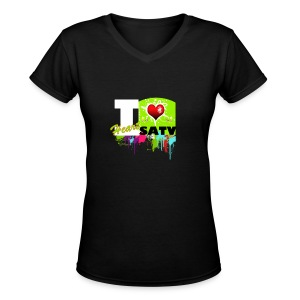 Love Satv - Women's V-Neck T-Shirt