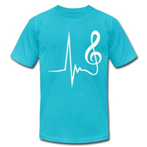 Music Beat (Men's American Apparel Tee) - Men's Fine Jersey T-Shirt