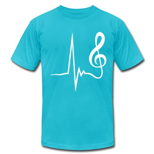 Music Beat (Men's American Apparel Tee) - Men's Fine Jersey T-Shirt