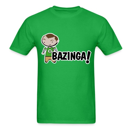 sheldon big bang theory bazinga shirt - Men's T-Shirt