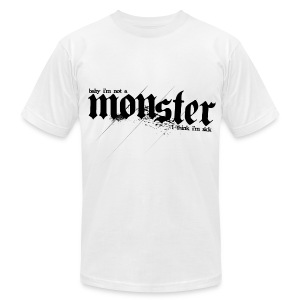 BB- Monster (BB on Back) - Men's T-Shirt by American Apparel