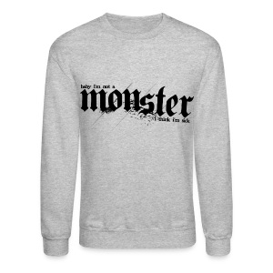 BB- Monster (BB on Back) Crewneck Tee - Crewneck Sweatshirt