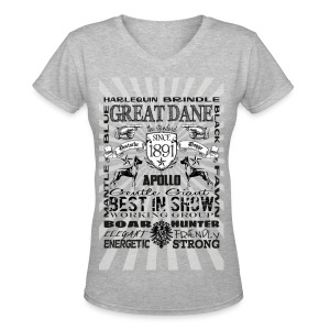 Great Dane 'Best in Show' Women's Tshirt - Women's V-Neck T-Shirt