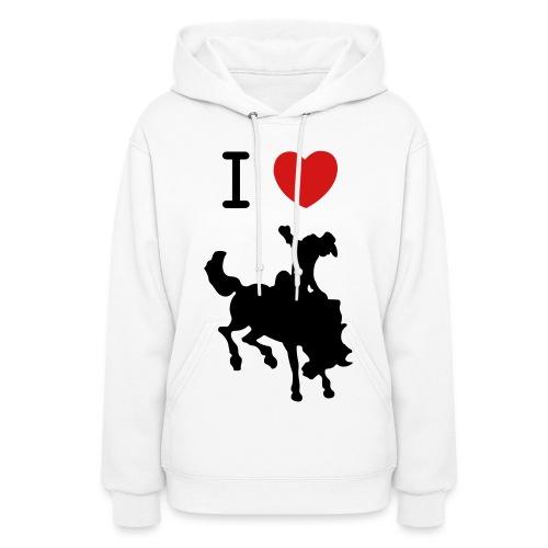 I Heart Cowboys Sweatshirt - Women's Hoodie