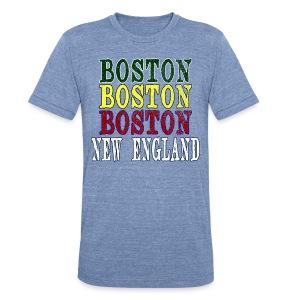 Boston Boston Boston - Unisex Tri-Blend T-Shirt