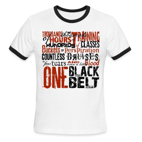 One Black Belt - Men's Ringer T-Shirt