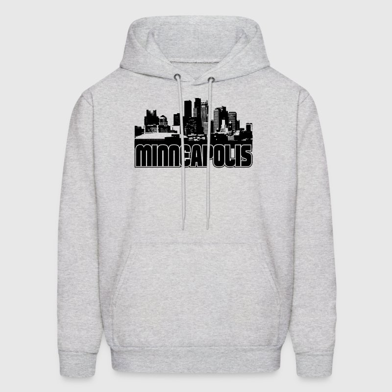 Minneapolis Skyline Hooded Sweatshirt - Men's Hoodie