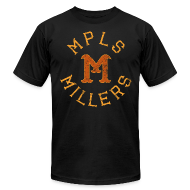 T-Shirts ~ Men's T-Shirt by American Apparel ~ MINNEAPOLIS MILLERS