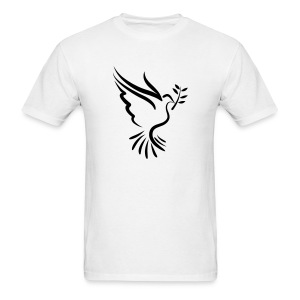 Dove with Branch - VECTOR T-Shirts - Men's T-Shirt