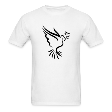 Dove with Branch - VECTOR T-Shirts