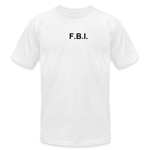 FBI tee White - Men's Fine Jersey T-Shirt
