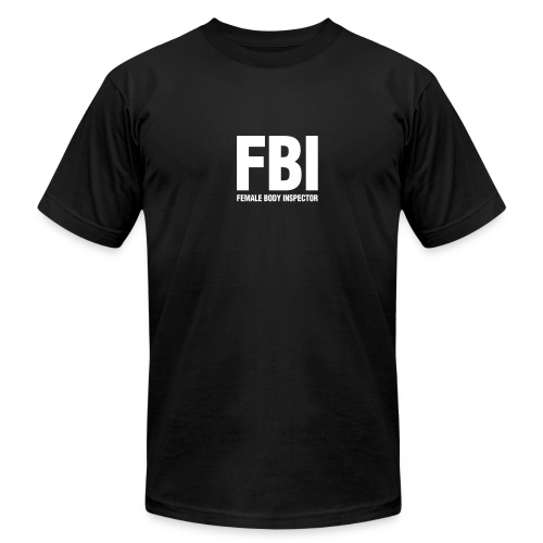 FBI tee black - Men's Fine Jersey T-Shirt