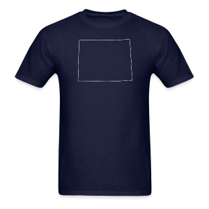 Wyoming Outline - Men's T-Shirt