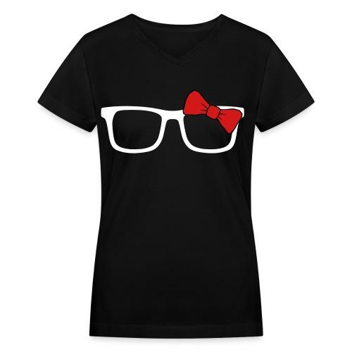 Girl Nerd T-shirt - Women's V-Neck T-Shirt
