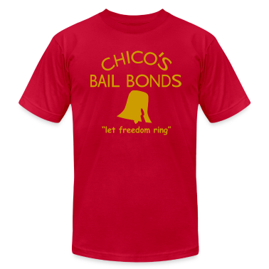 chicos bail bonds gold t shirt spreadshirt