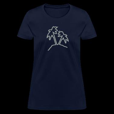 Palmtree island Women's Standard Weight T-Shirt