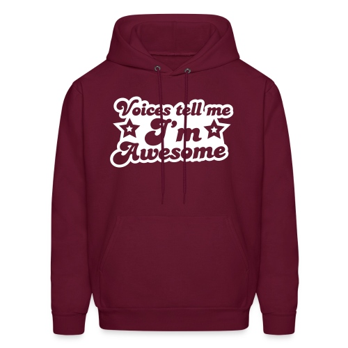 voices tell me im awesome hoodie - Men's Hoodie