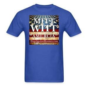 Official Dogs Against Romney Mitt Witt Flag T-Shirt - Men's T-Shirt