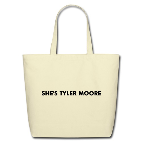 MARY TYLER MOORE WHITE & BLACK - Eco-Friendly Cotton Tote