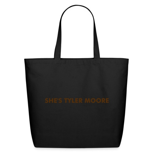 MARY TYLER MOORE BLACK & BROWN - Eco-Friendly Cotton Tote