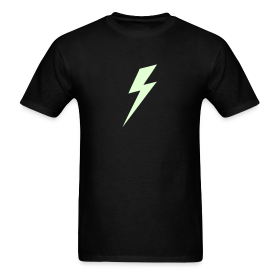 Lightning Bolt - Glow in the dark shirt ~ 351