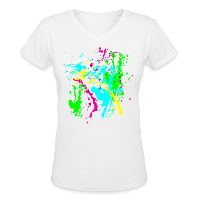 Spray Paint Splatter Colorful Graffiti Graphic Design Picture - Cool tshirt  and Hoodie Sweater! | Women\'s V-Neck T-Shirt