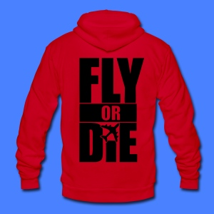 Fly Or Die Zip Hoodies/Jackets - stayflyclothing.com - Unisex Fleece Zip Hoodie by American Apparel