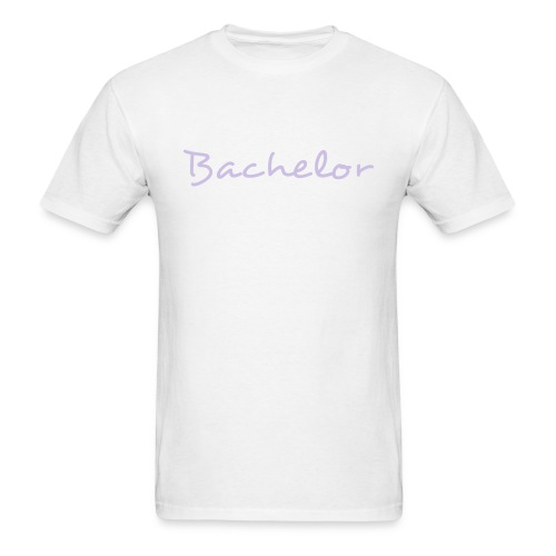 Bachelor Text Graphic Design - You can change the color of the font! - Men's T-Shirt