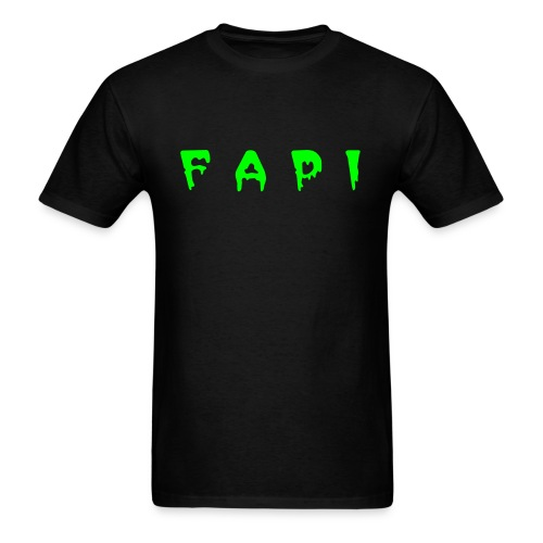 Men's FAPI Logo Zombies Keep Away Tee, Neon Green - Men's T-Shirt