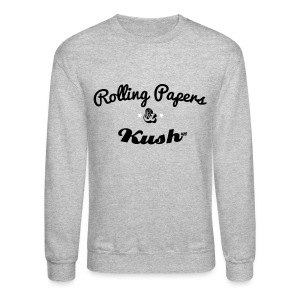 ROLLING PAPERS AND KUSH Long Sleeve Shirts - Crewneck Sweatshirt