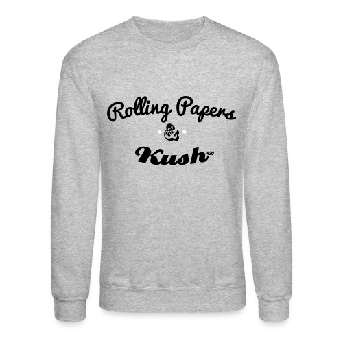 ROLLING PAPERS AND KUSH Long Sleeve Shirts - Crewneck Sweatshirt