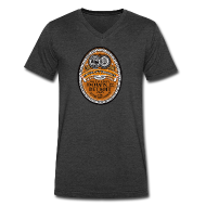T-Shirts ~ Men's V-Neck T-Shirt by Canvas ~ DWD Beer Label