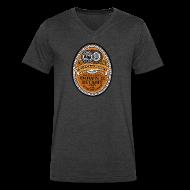 T-Shirts ~ Men's V-Neck T-Shirt by Canvas ~ DWD Beer Label
