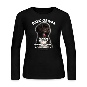 Official Dogs Against Romney Bark Obama Long-Sleeve Women's Tee - Women's Long Sleeve Jersey T-Shirt