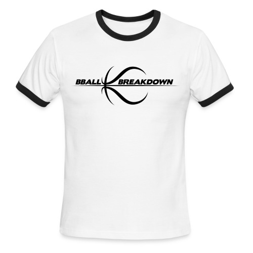 bballbreakdownlogo - Men's Ringer T-Shirt