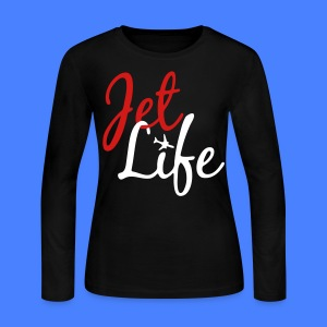 Jet Life Long Sleeve Shirts - stayflyclothing.com - Women's Long Sleeve Jersey T-Shirt