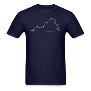 Virginia Outline - Men's T-Shirt
