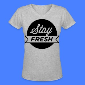 Stay Fresh Women's T-Shirts - stayflyclothing.com - Women's V-Neck T-Shirt
