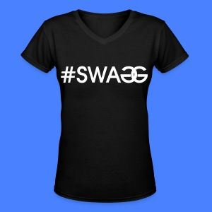 #SWAGG Women's T-Shirts - stayflyclothing.com - Women's V-Neck T-Shirt