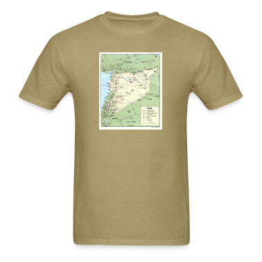 Syria Iraq Turkey Jordan map t shirt