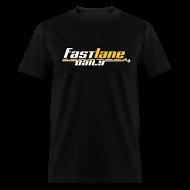 T-Shirts ~ Men's T-Shirt ~ Fast Lane Daily Logo on T